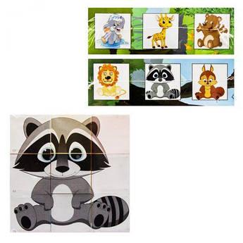 """Кубики """"Собери картинку: Забавные животные"""" 415"""