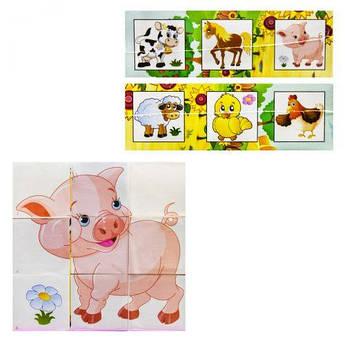"""Кубики """"Собери картинку: Домашние животные"""" 411"""