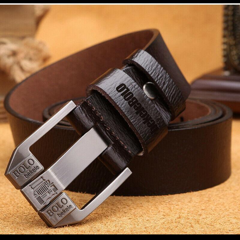 Стильный мужской кожаный ремень Bolo Bekele Коричневый