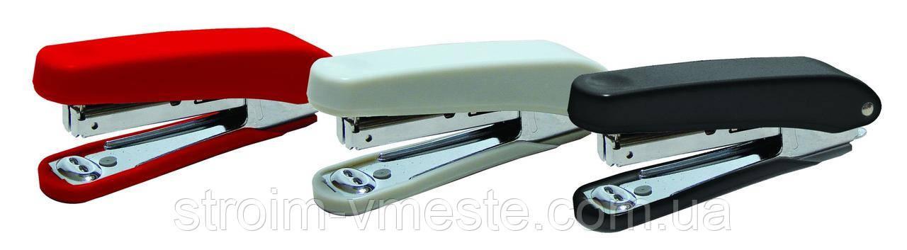 Степлер №10, 10листов,  50 мм, с дестеплером, цв. в ас-те, 4-305, 4OFFICE