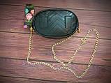 Женская бананка, поясная сумка гучи, Gucci, кроссбоди. Черная / 88102 G, фото 4