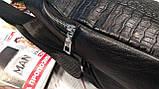 Мужская сумка на одно плечо, слинг Alligator. Черная / 2799, фото 8
