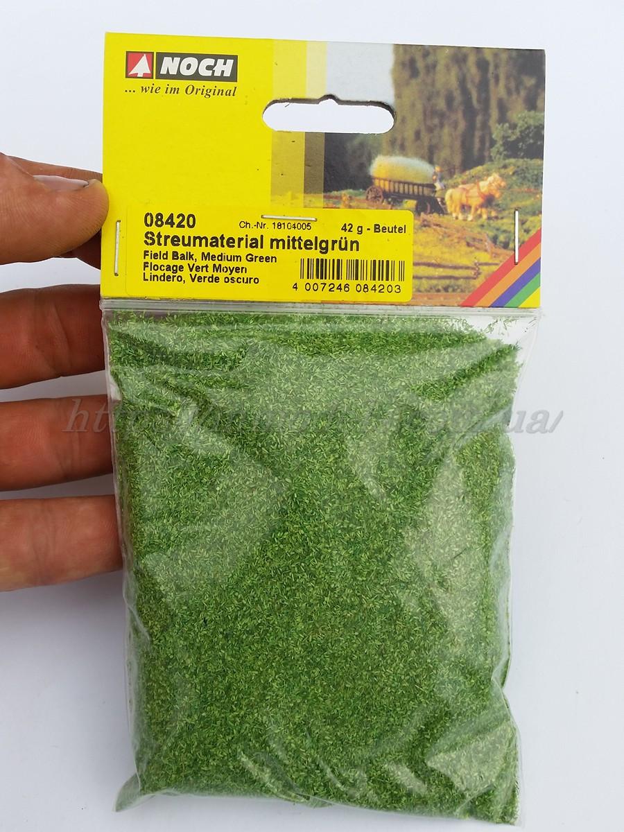 Noch 08420 Присыпка темно-зеленая для создания ланшафтного дизайна, вес 42 грамма, всех масштабов
