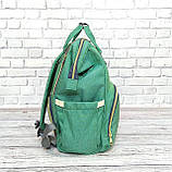 Сумка-рюкзак для мам LeQueen. Мятный, фото 7