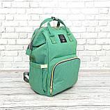 Сумка-рюкзак для мам LeQueen. Мятный, фото 8