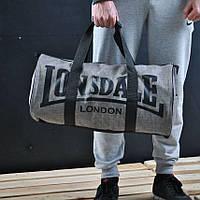 Сумка для спорта Lonsdale London. Для тренировок. Серая. Под коттон