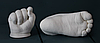 Набор для создания гипсовых 3д скульптур Слепок 5,5 л + подставка, 3D скульптуры рук, романтический подарок, фото 9