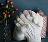 Набор для создания гипсовых 3д скульптур Слепок 5,5 л + подставка, 3D скульптуры рук, романтический подарок, фото 10