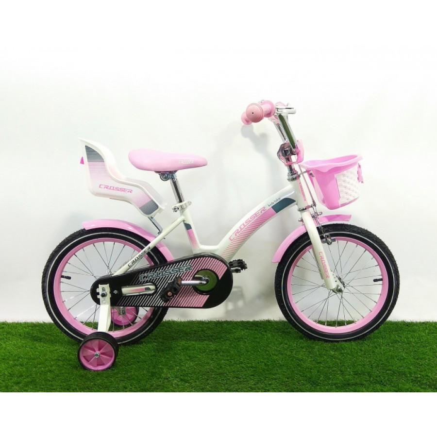 """Велосипед двоколісний Crosser Kids Bike 16"""" рожевий"""