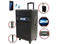 Акустическая система Колонка аккумуляторная DMS K10-12MS Bluetooth, USB, MP3, Wireless LED, фото 1