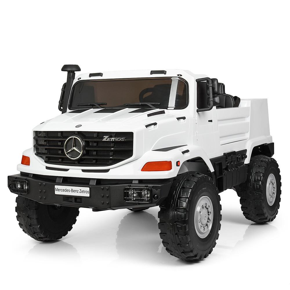 Двухместный детский электромобиль Джип M 3990 EBLR-1, Mercedes-Benz Zetros, белый