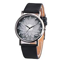Женские часы с черным ремешком Цветок лотоса код 499, фото 1