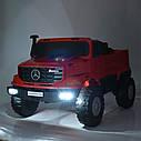 Двухместный детский электромобиль Джип M 3990 EBLR-1, Mercedes-Benz Zetros, белый, фото 6