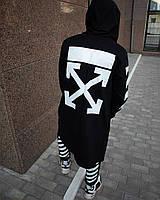 Мантия мужская в стиле Off white (офф вайт) Cross чёрная