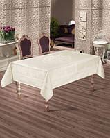 Скатерть тефлоновая  прямоугольная  Maison Royale Zumrut Gold 160х220   , Турция, фото 1