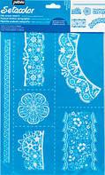 Трафарет для шелкографии Pebeo самокл многоразов Кружева 21*29,5см P-329602