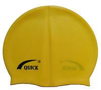 Детская силиконовая шапочка для плавания желтого цвета