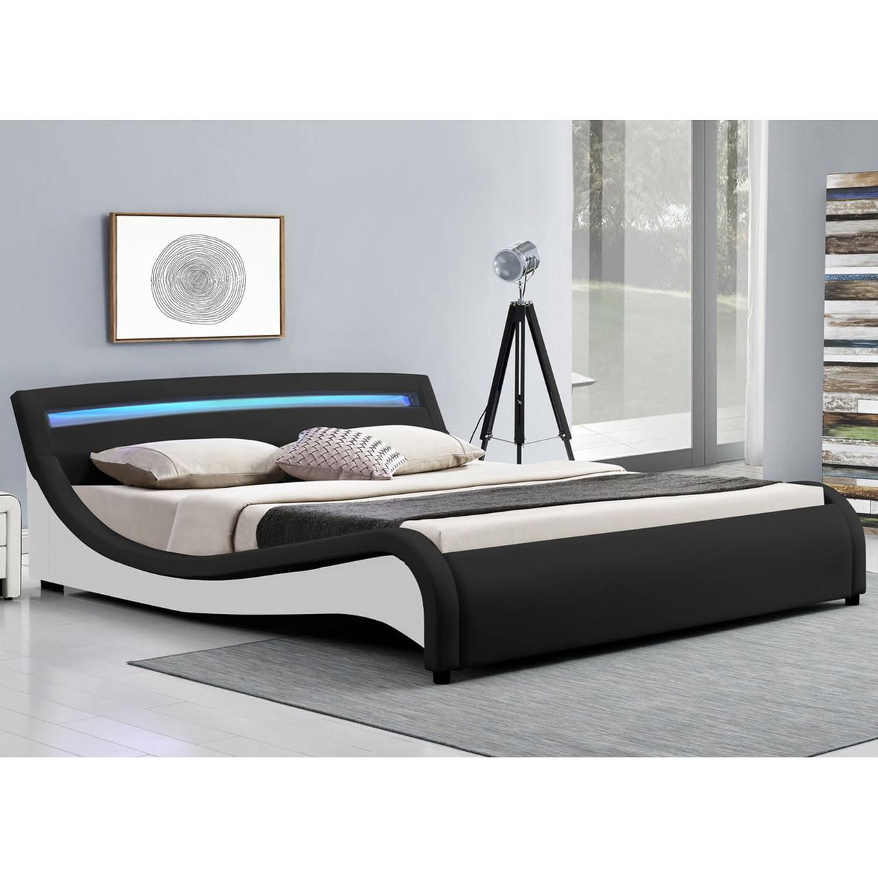 Двуспальная кровать Malaga 140х200 см. с LED подсветкой!