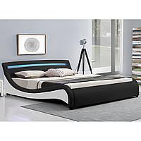 Двуспальная кровать Malaga 140х200 см. с LED подсветкой!, фото 1