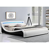 Кровать кожаная на пульт Malaga 140х200 см. с LED подсветкой!
