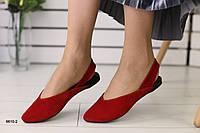 Женские замшевые Красные босоножки, фото 1