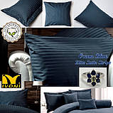 """Комплекты постельного белья Коллекции """"Elite Satin Stripe 8х8 mm Ocean Blue"""". Страйп-Сатин (Турция) Хлопок100%, фото 6"""