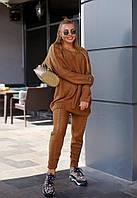 Вязаный женский костюм кофейного цвета, фото 1