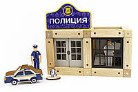Конструктор магнитный деревянный «Полицейский участок» 48 деталей Zeus