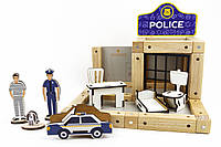 Конструктор магнитный деревянный «Полицейский участок» Zeus 48 деталей