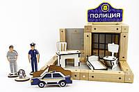 Конструктор магнитный деревянный «Полицейский участок» 48 деталей