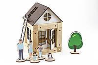 """Конструктор деревянный магнитный дом """"Первый мой дом"""" Zeus"""