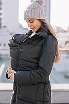 Зимняя слингокуртка 3в1 для беременных и слингоношения Love and Carry Блек