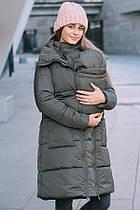Зимняя слингокуртка 3в1 для беременных и слингоношения Love and Carry Олива