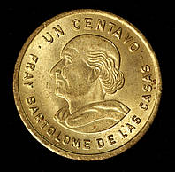 Монета Гватемалы 1 сентаво 1989 г.