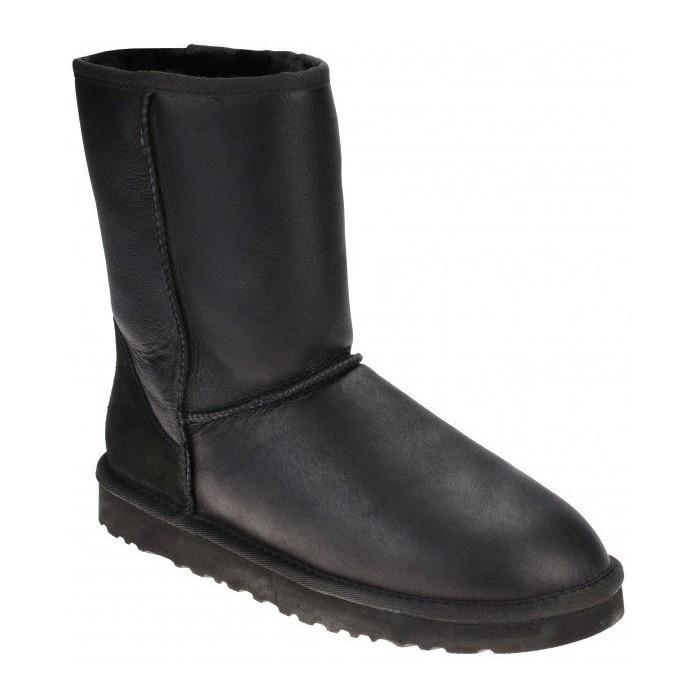 UGG женские Classic Short Leather II черные 36 р.