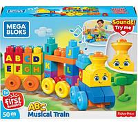 Конструктор мега блокс Музыкальный паровозик Mega Bloks Musical Train FWK22