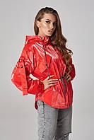 Женская куртка-ветровка на кулисе Lipar Красная