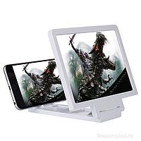 Увеличитель экрана смартфона 3D F1. Цвет Белый