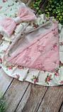 Красивый конверт  для новорожденных Розы,  с кружевом и рюшами, фото 2
