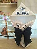 Конверт-ковдру на виписку з вишивкою Маленький Король, фото 10