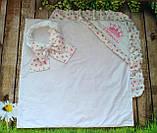 Красивый конверт на выписку  для новорожденных, с  рюшами и вышивкой, фото 10