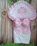 Конверт на выписку с вышивкой для новорожденных весна-лето-осень, фото 7