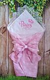 Конверт  с кружевом и вышивкой  Корона для новорожденных весна-лето-осень, фото 9