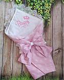 Конверт  с кружевом и вышивкой  Корона для новорожденных весна-лето-осень, фото 10