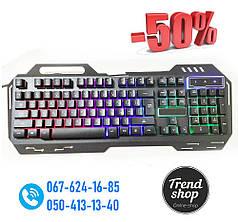 Клавиатура KEYBOARD GK-900, Проводная клавиатура, Компьютерная компактная клавиатура, Игровая клава