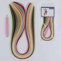 Бумага для квиллинга С 37117 (360) 16 цветов, с инструментом для закручивания, в кульке