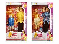 Семья 2917 кукла (берем)29см,Кен(30см),дочка(10,5),пупс(5см), микс видов, в кор-ке,19-33-6см
