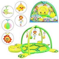 Игровой коврик для младенца Черепаха 898-12 B/0228-1 R с подвесками