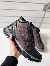 Мужские зимние ботинки, коричневая crazy