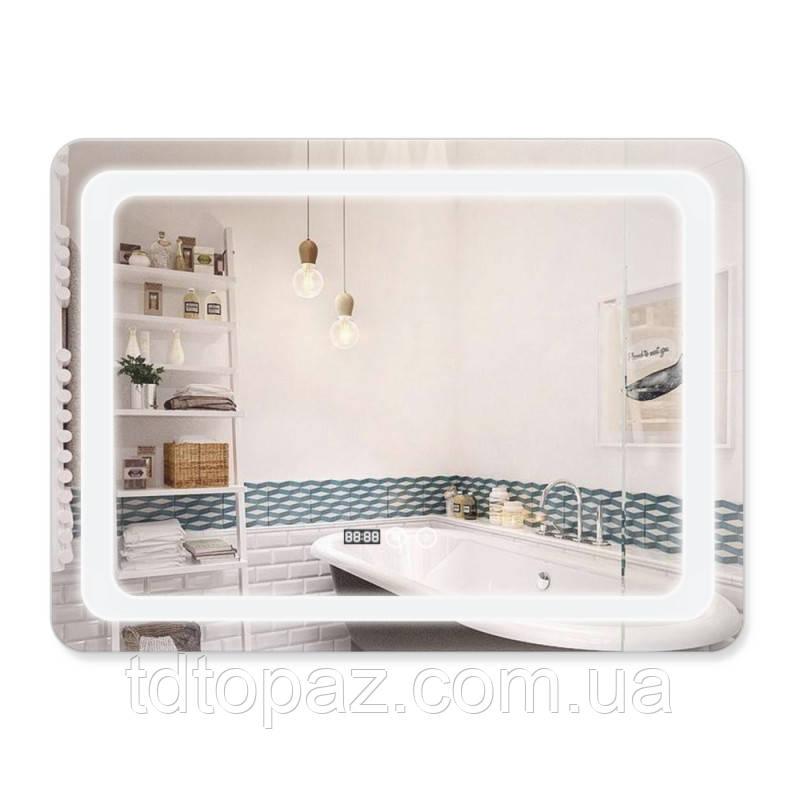 Зеркало с антизапотеванием Q-tap Mideya LED DC-F908 800х600 мм